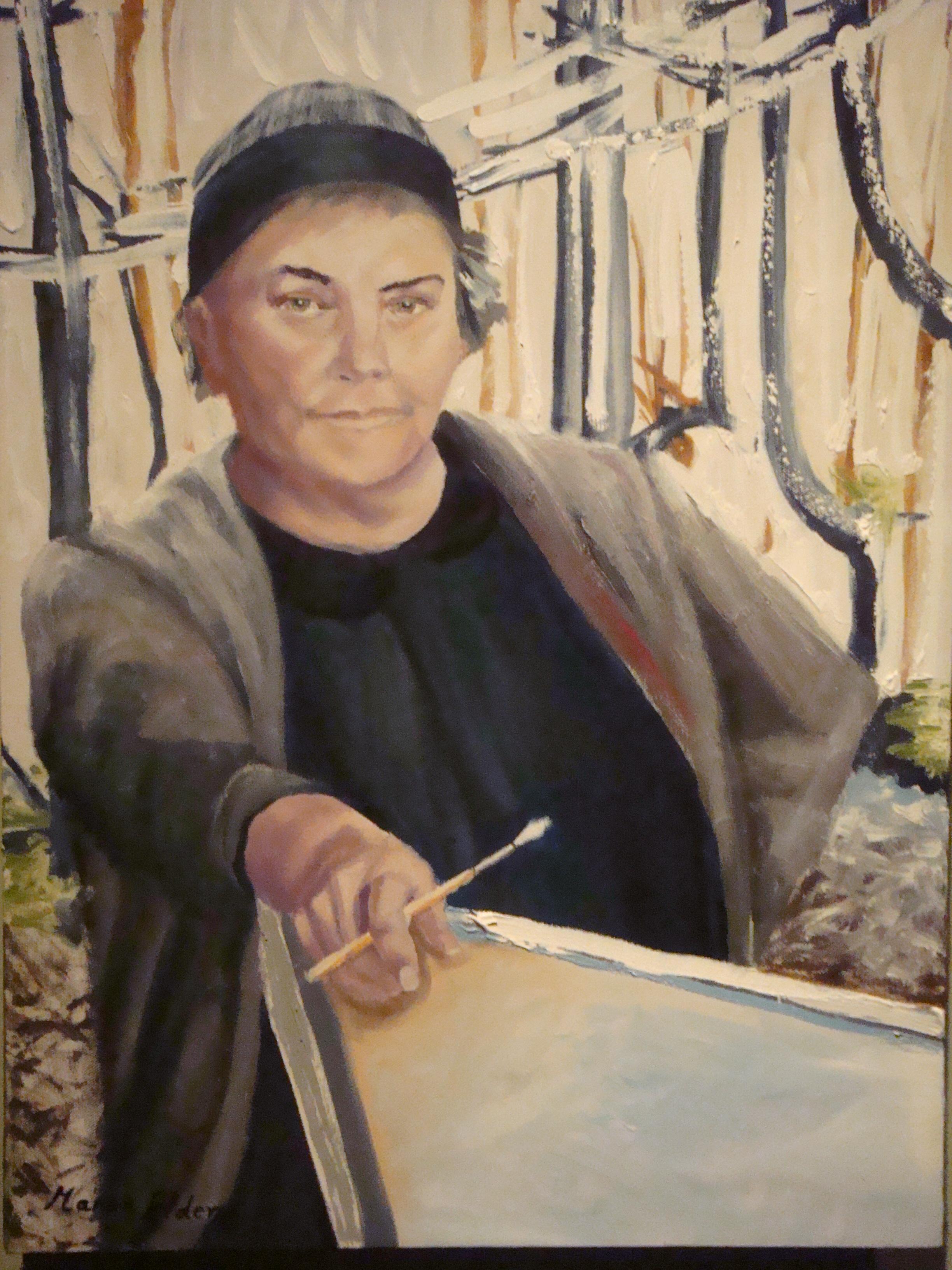 Painting by Marion Elder - photo by Elodie Adams