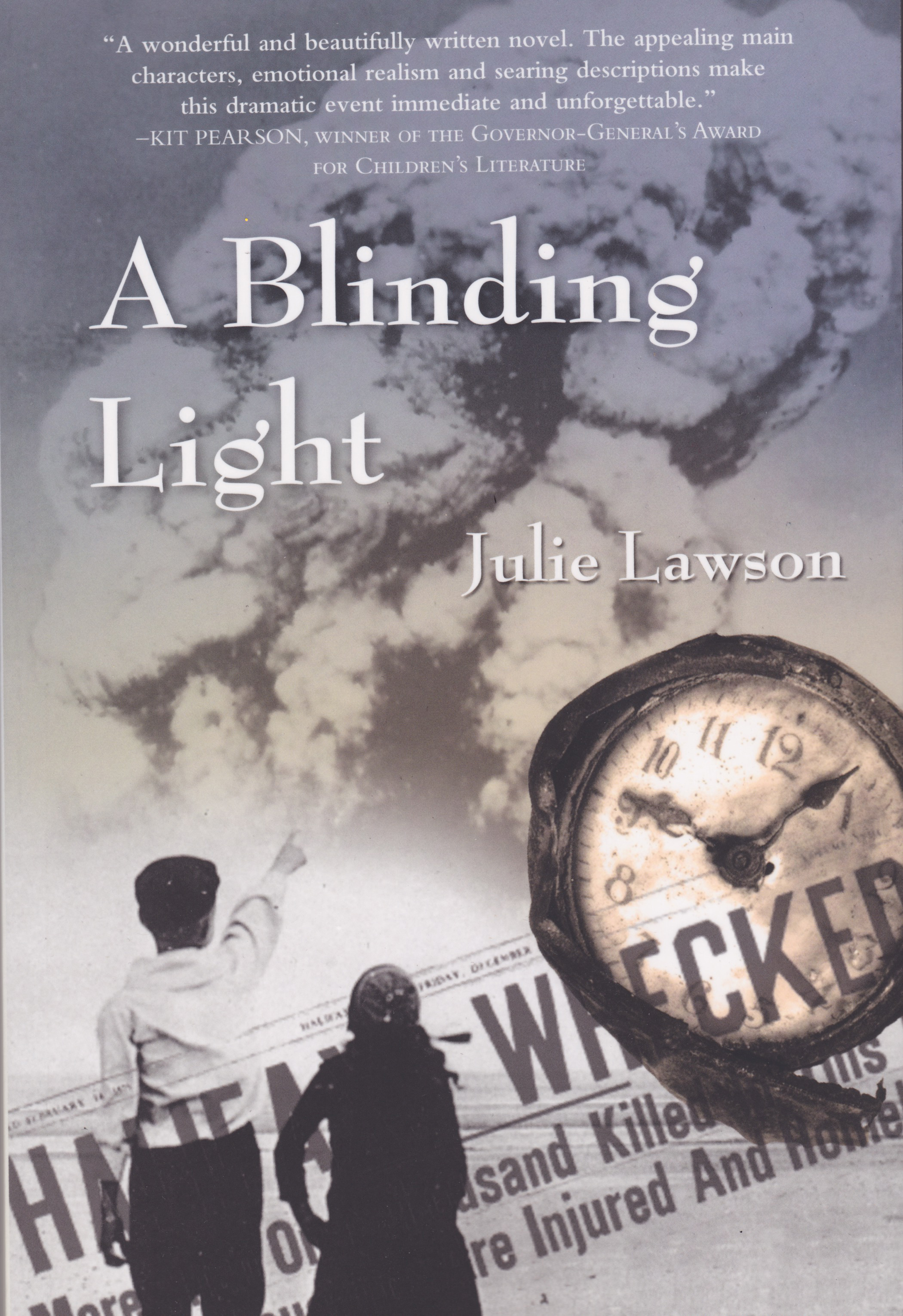 Cover of A Blinding Light courtesy of Nimbus Publishing. The book is by James Bay resident Julie Lawson, with the cover design by Sari Naworynski   .