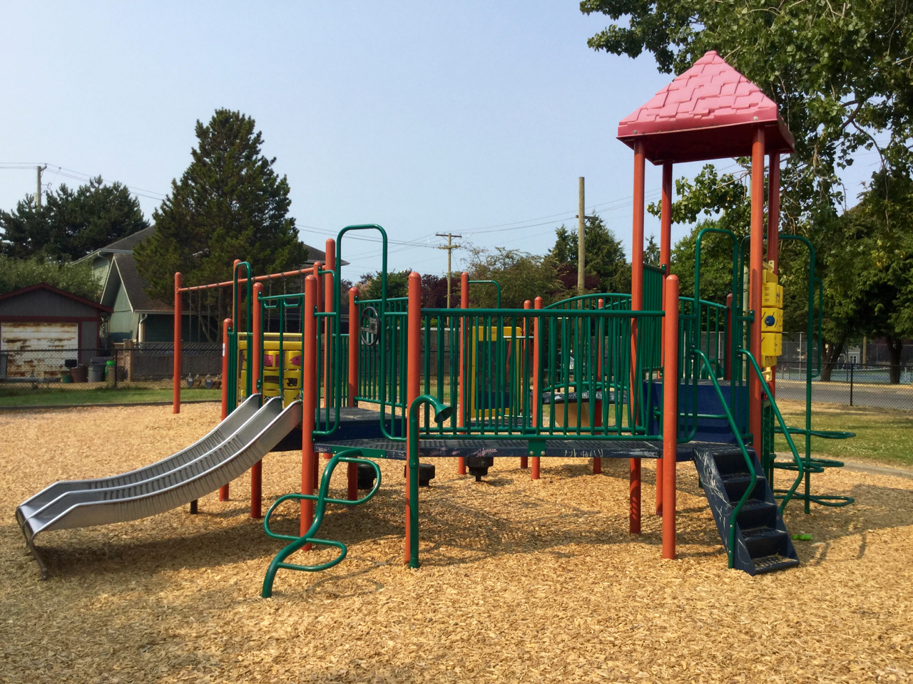 Toddler Park is perfect for the younger set, and enclosed with a fence for added safety.