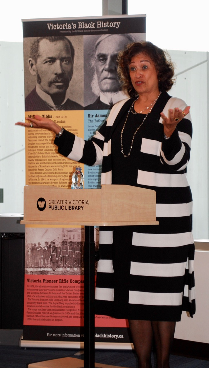 Dr Verna Gibbs speaks about the life and impact of Mifflin Wistar Gibbs. Photo by Robert Hawkes,
