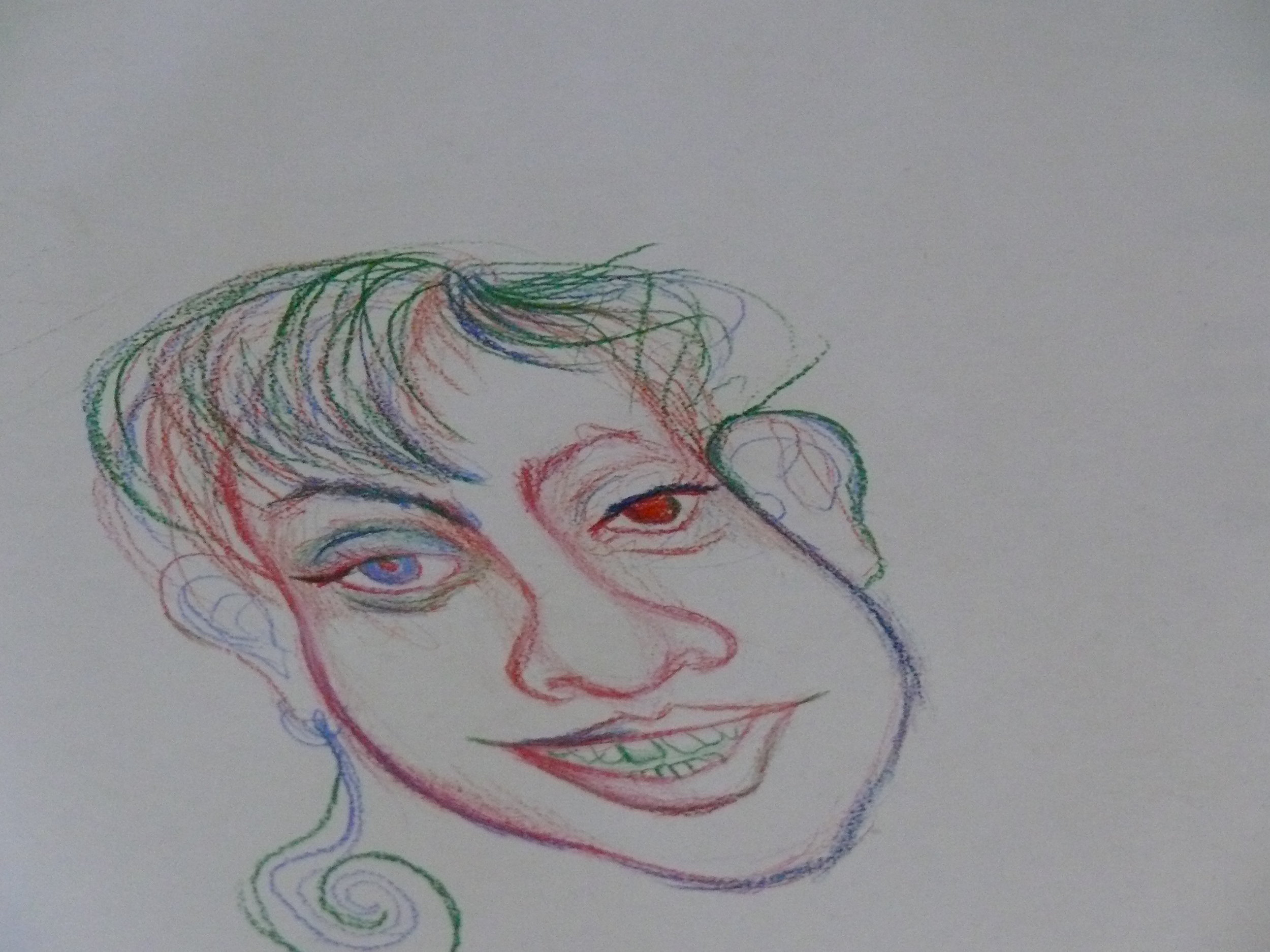 Name of artist unknown for this sketch made by someone who formerly hung out at Hope Sanctuary.