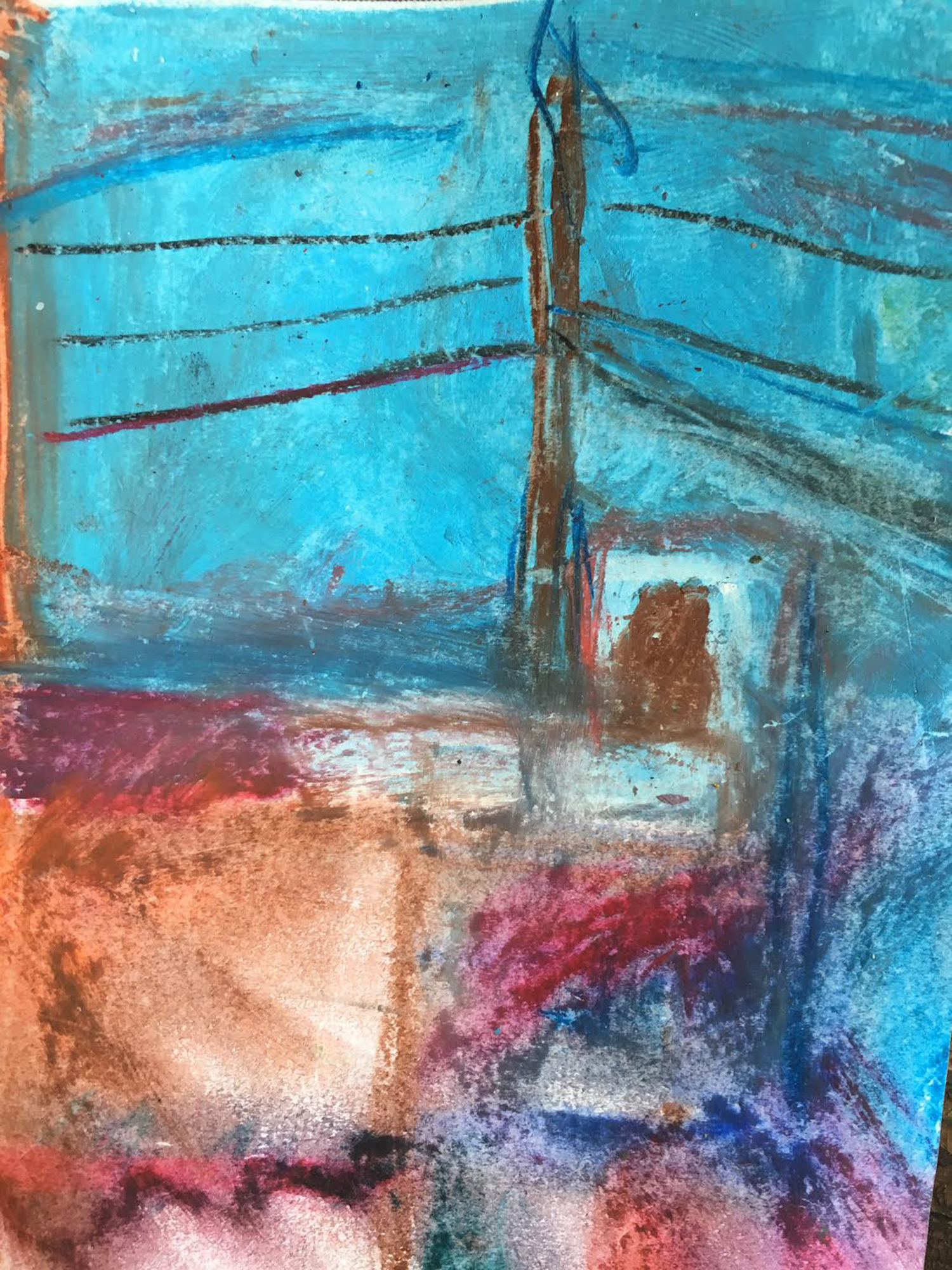 """Electric cabin"" pastel"