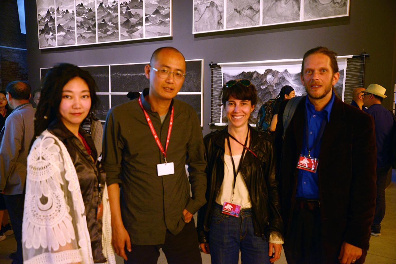 Tan Tan, Qiu Zhijie(curator of Chinese pavillion), Sophie Saporosi, Eric Bribosia