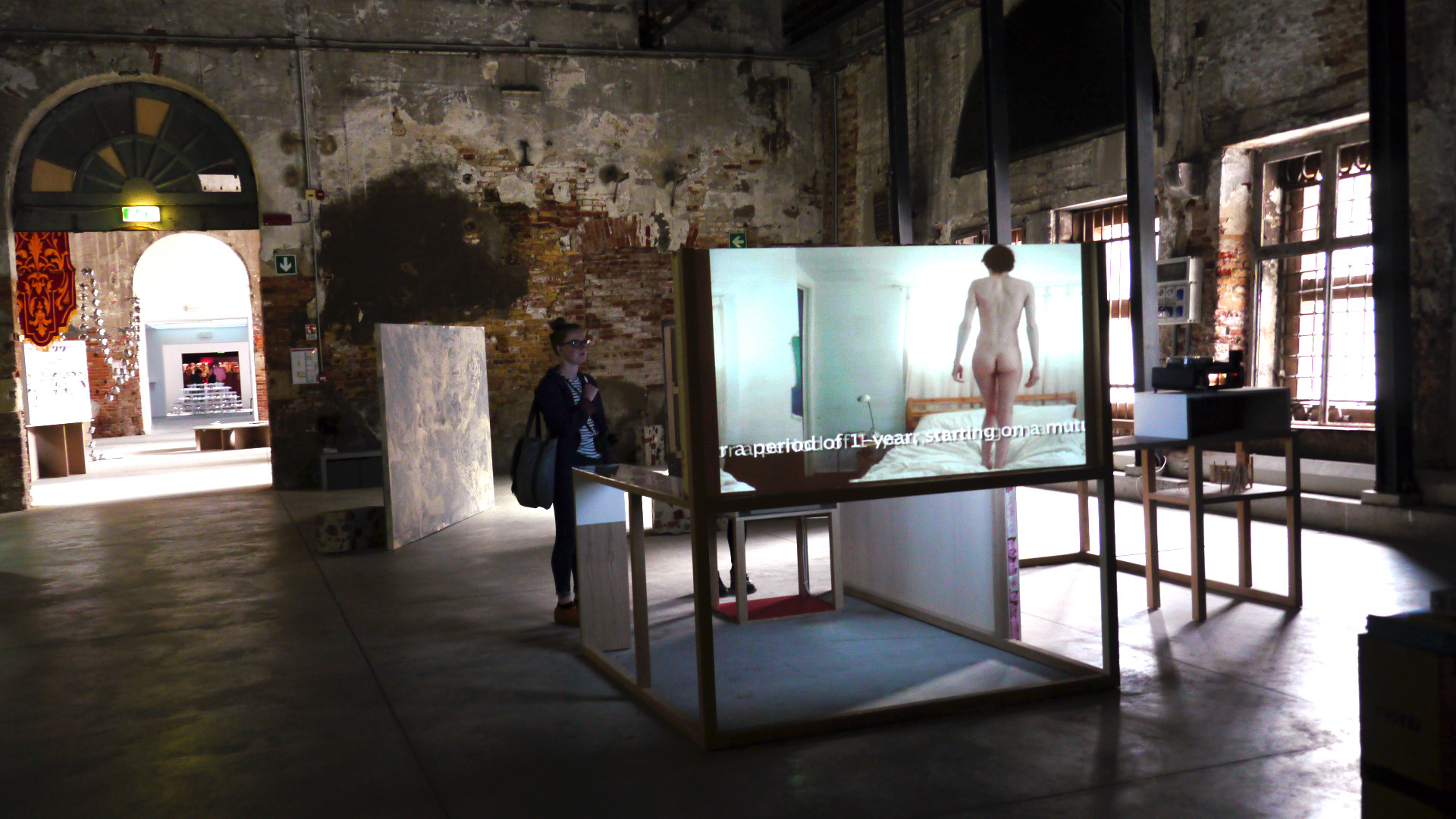 "Exhibiting Johnny Naked ""The Naked Slave 4 Art"", Arsenale"