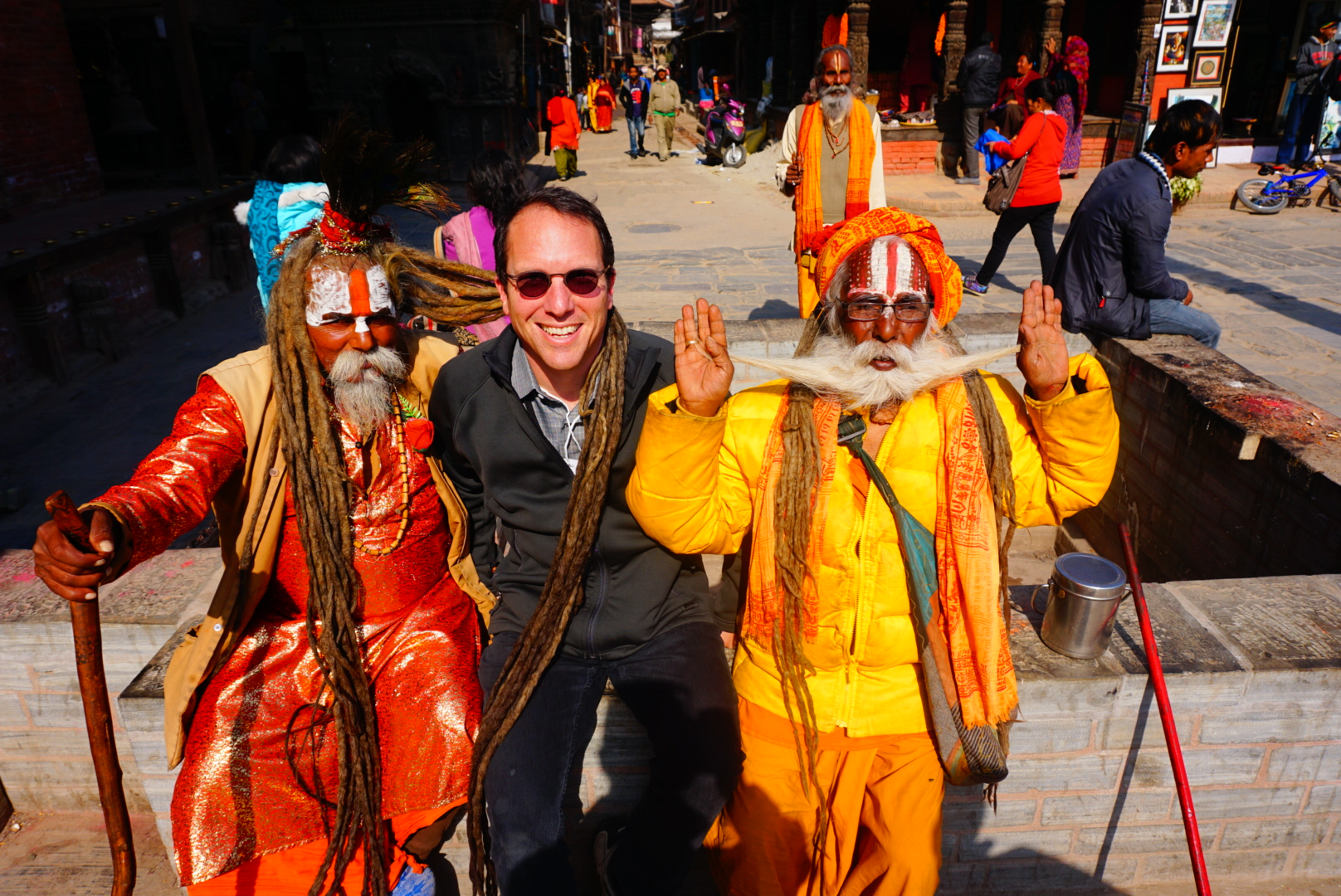 David Hochman in Kathmandu