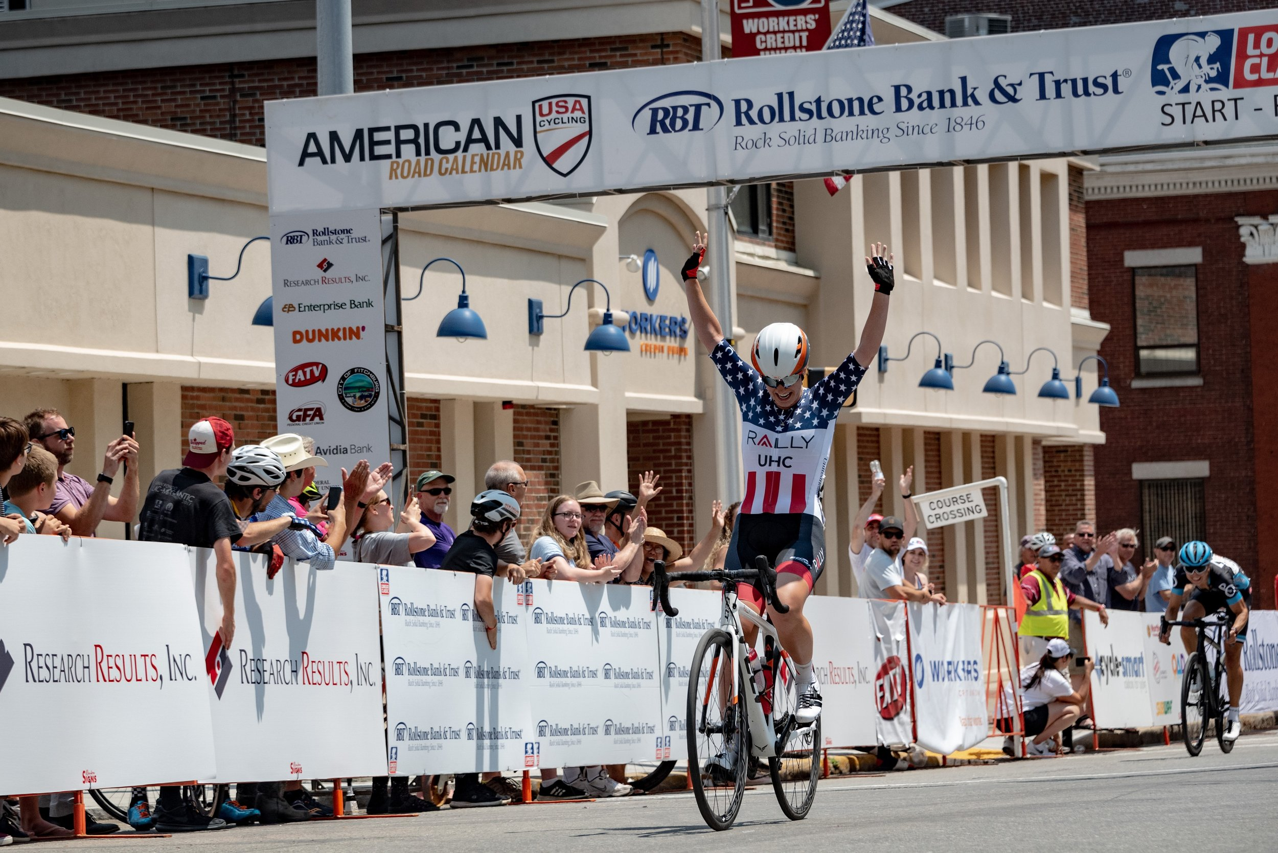 White takes the win in Fitchburg. Photo: Katie Busick Photography