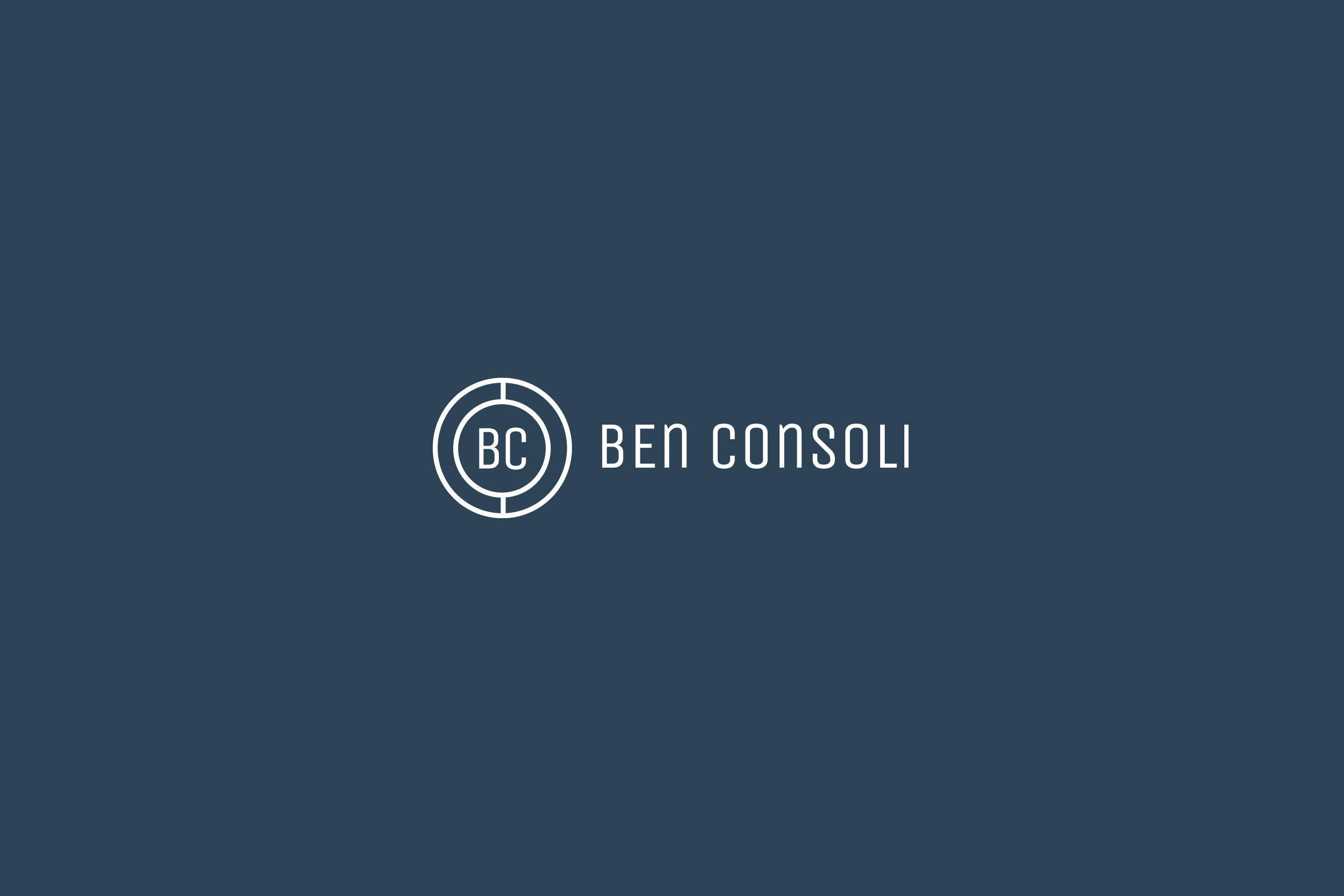 Logo on dark blue background