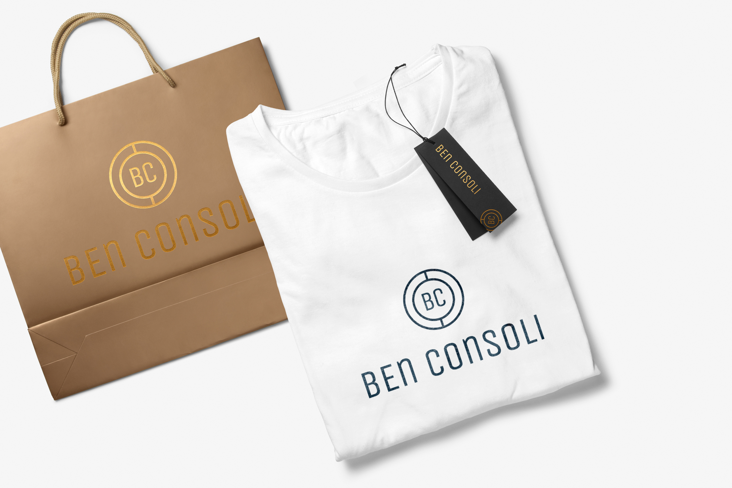 Shopping bad design and custom t-shirt design with label