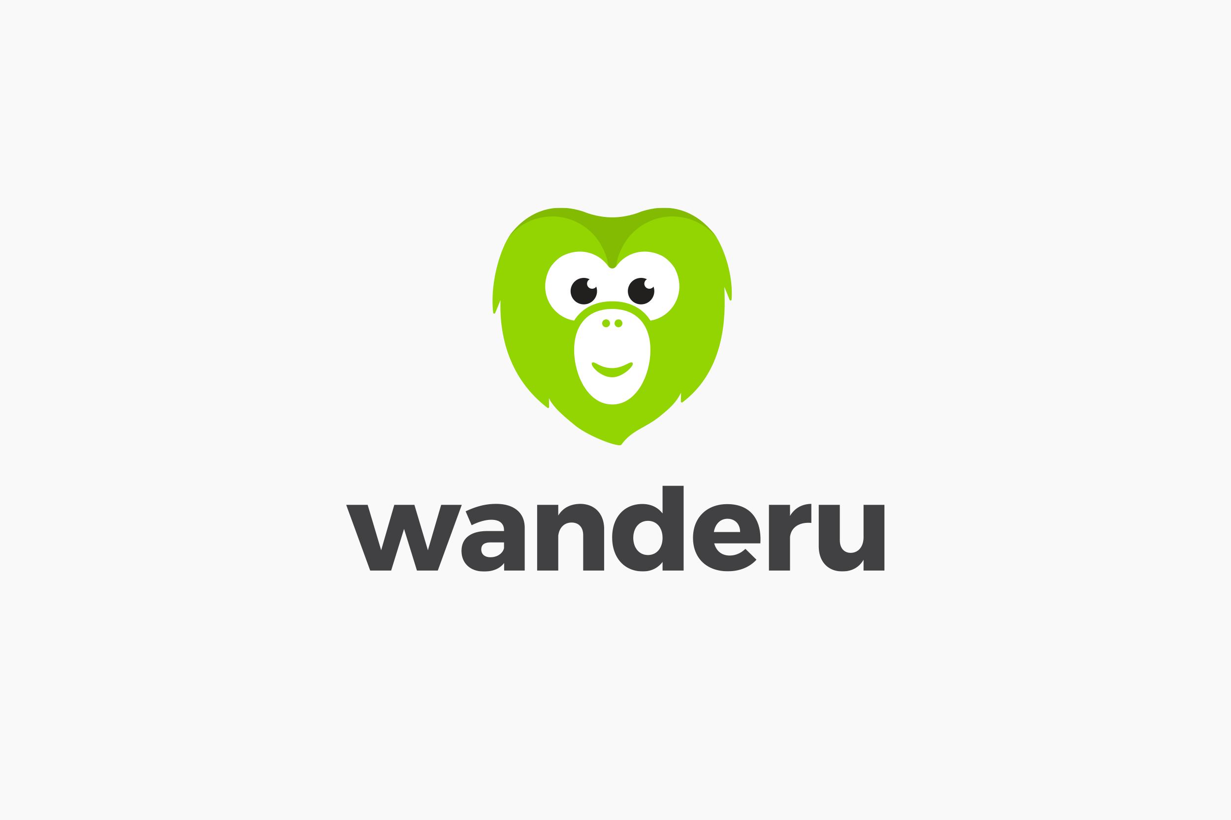 Wanderu logo • stacked version
