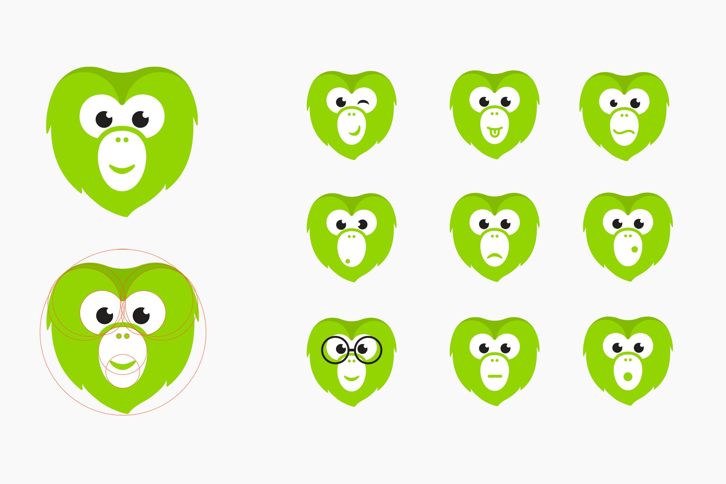 Wanderu's mascot Chiku • expression kit design