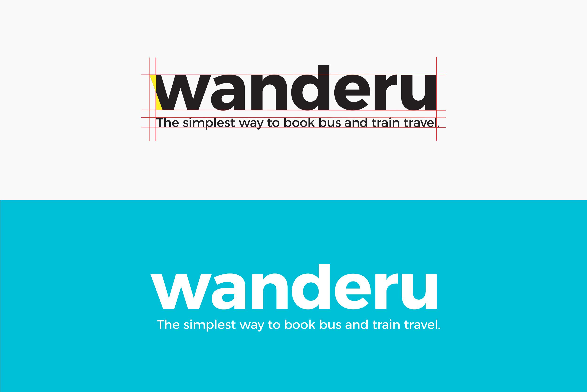Wanderu logomark along with tagline