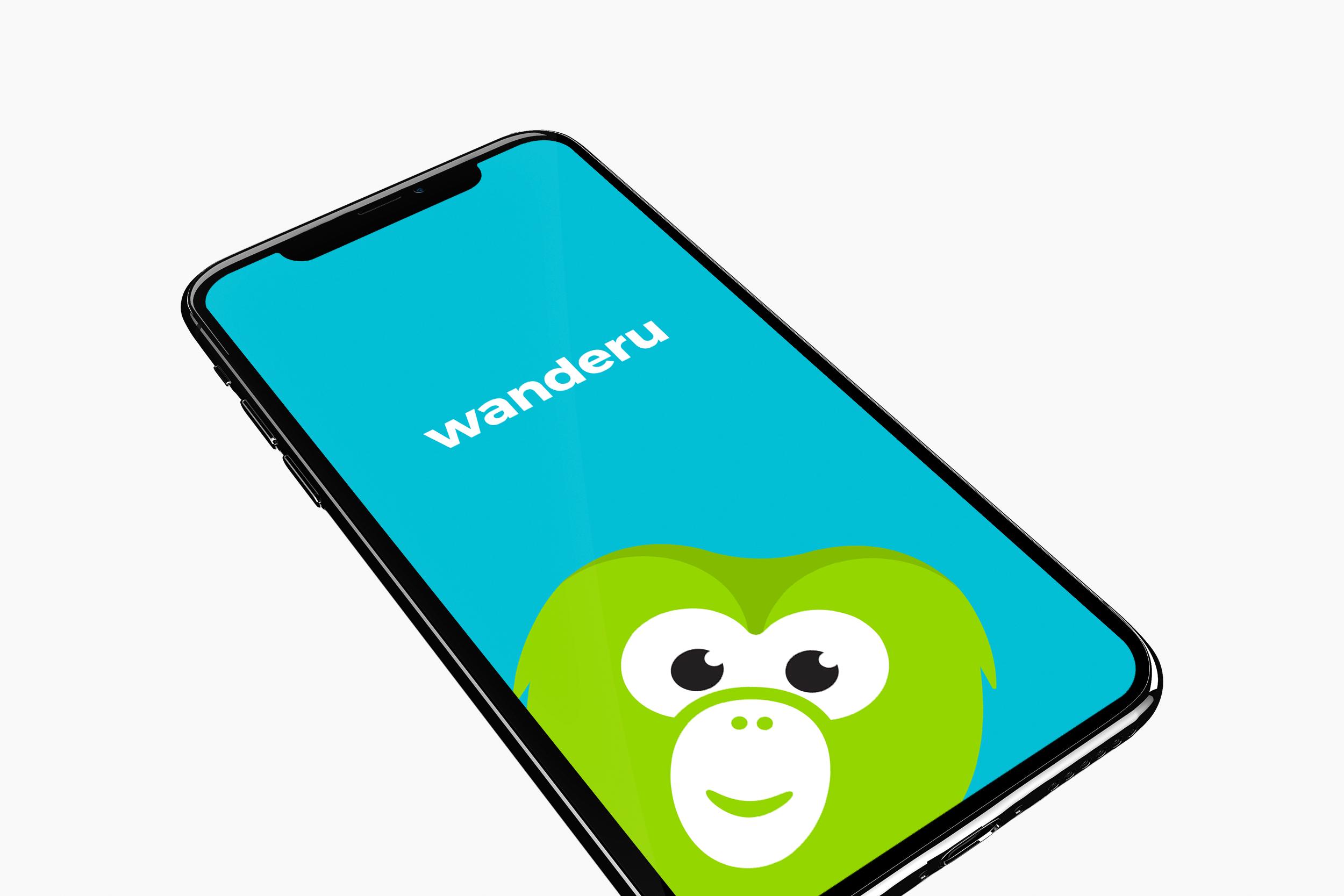 Wanderu app design splash page