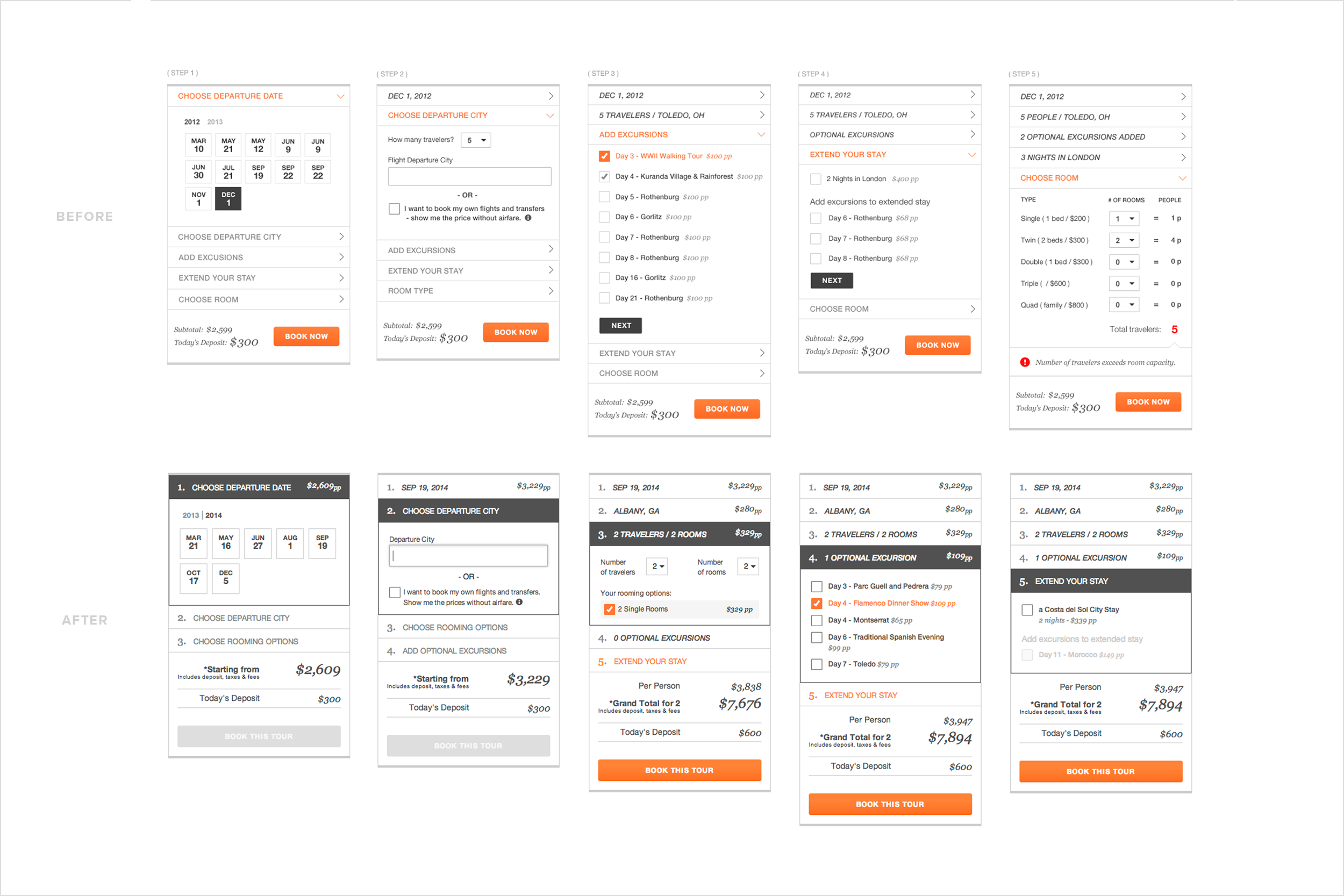 Tour builder before and after user testing