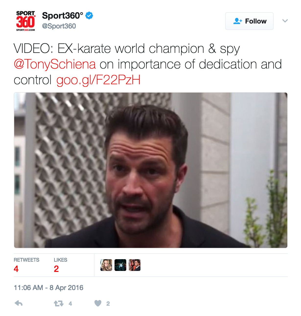 SPORT360 INTERVIEW WITH TONY SCHIENA
