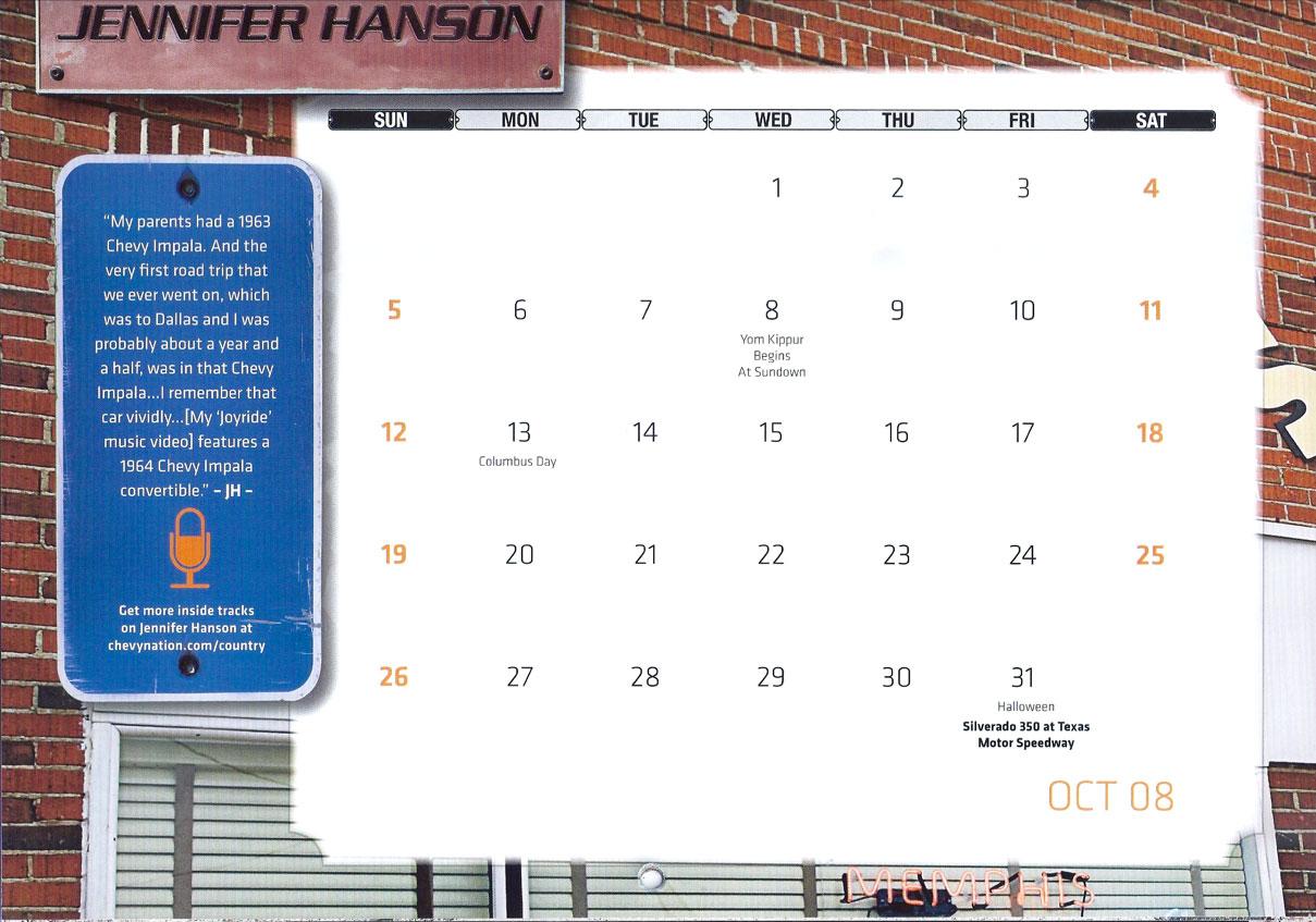 Chevy Calendar