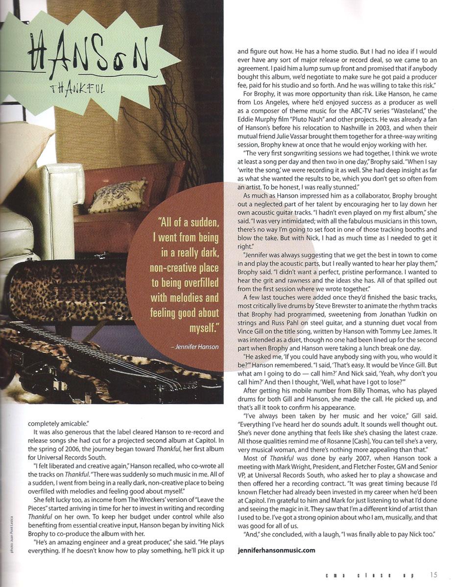 CMA Close Up Magazine