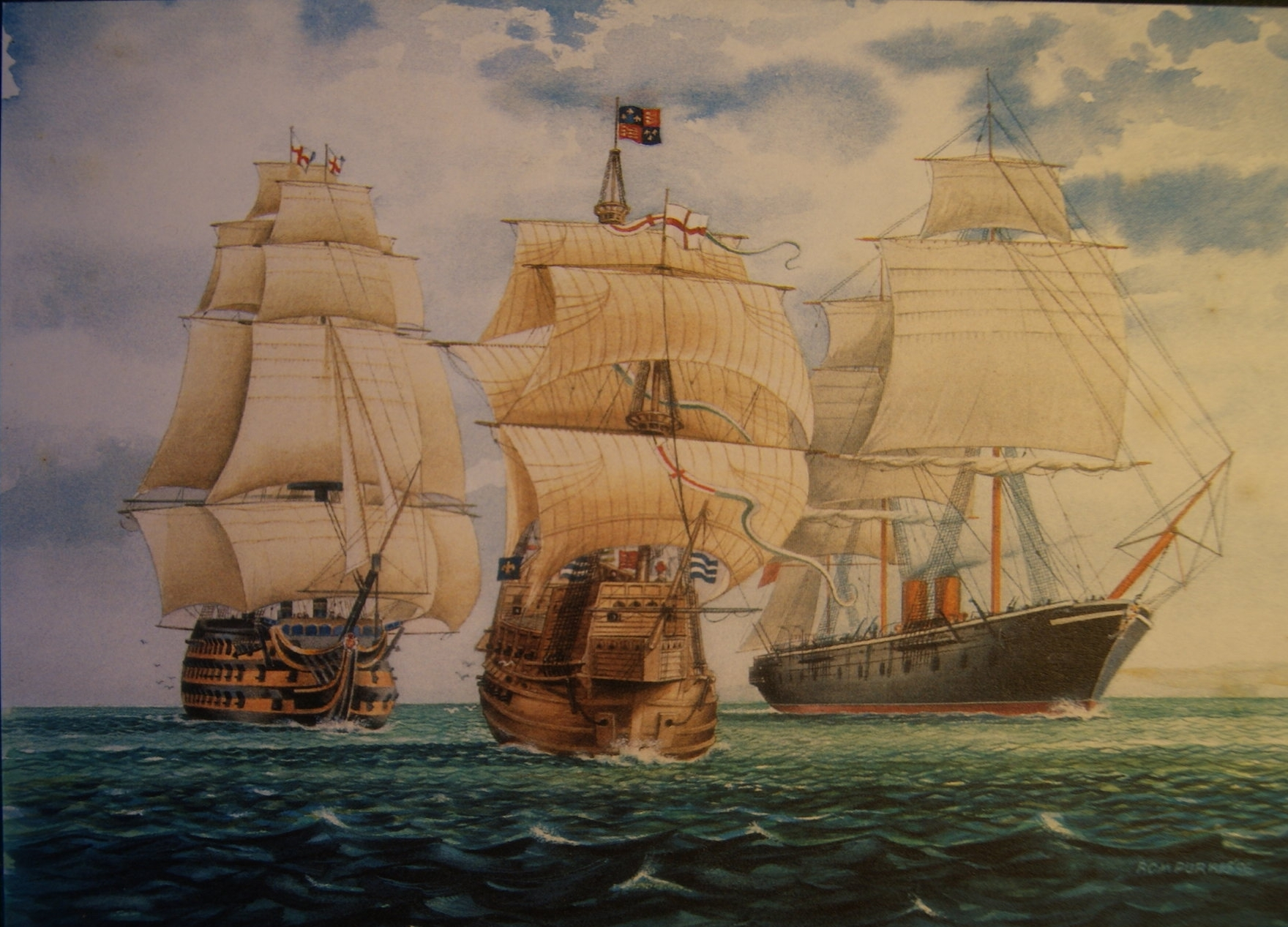 Wentworth jigsaw: The Victory, The Mary Rose,The Warrior