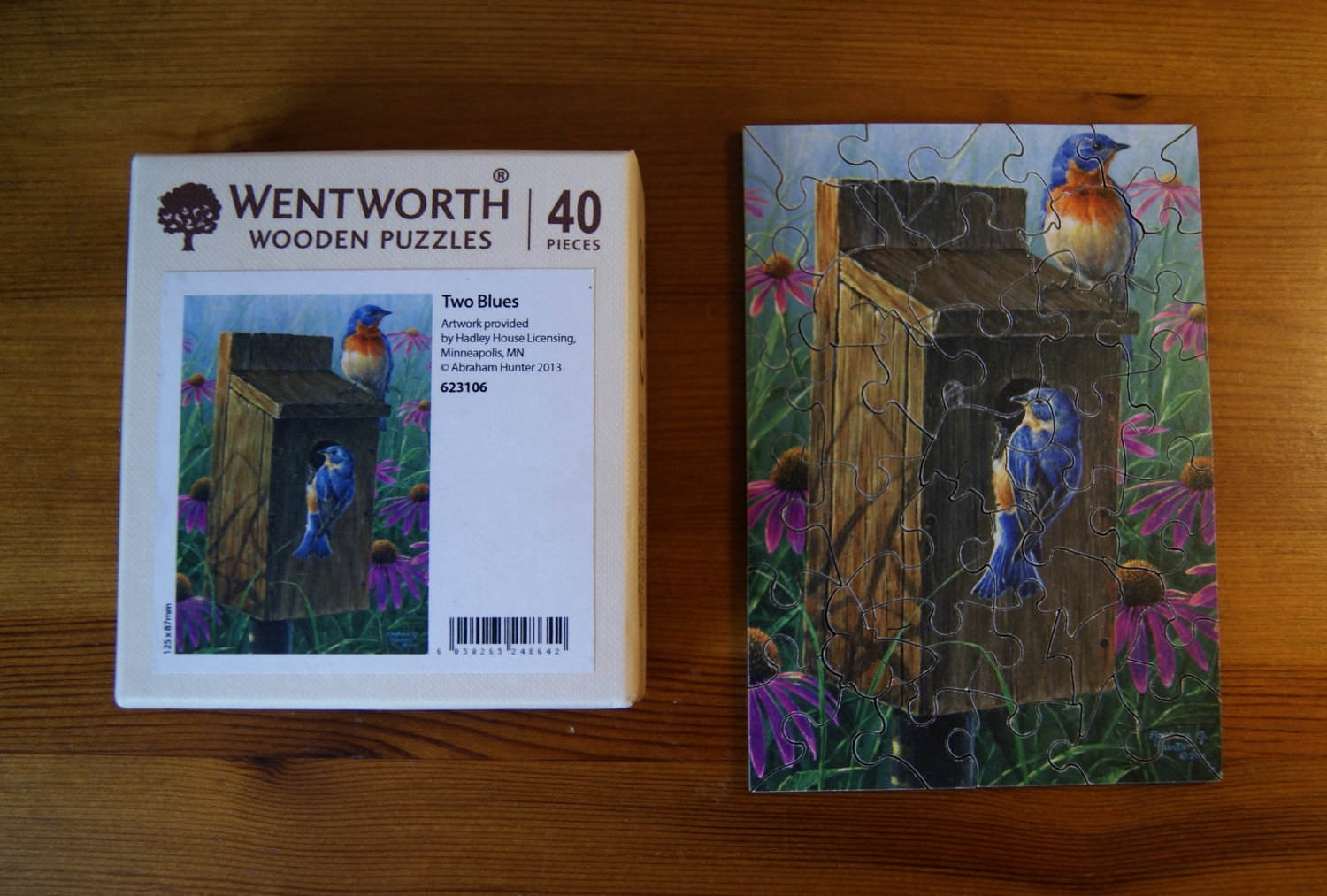 Wentworth jigsaw: Two Blues