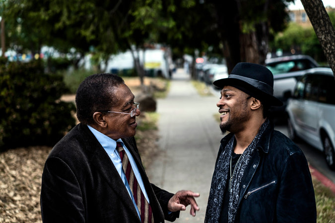 Zackary Canepari/New York Times   D'Angelo and Bobby Seale   D'Angelo and Bobby Seale on the Past and Future of Political Protest for  The New York Times