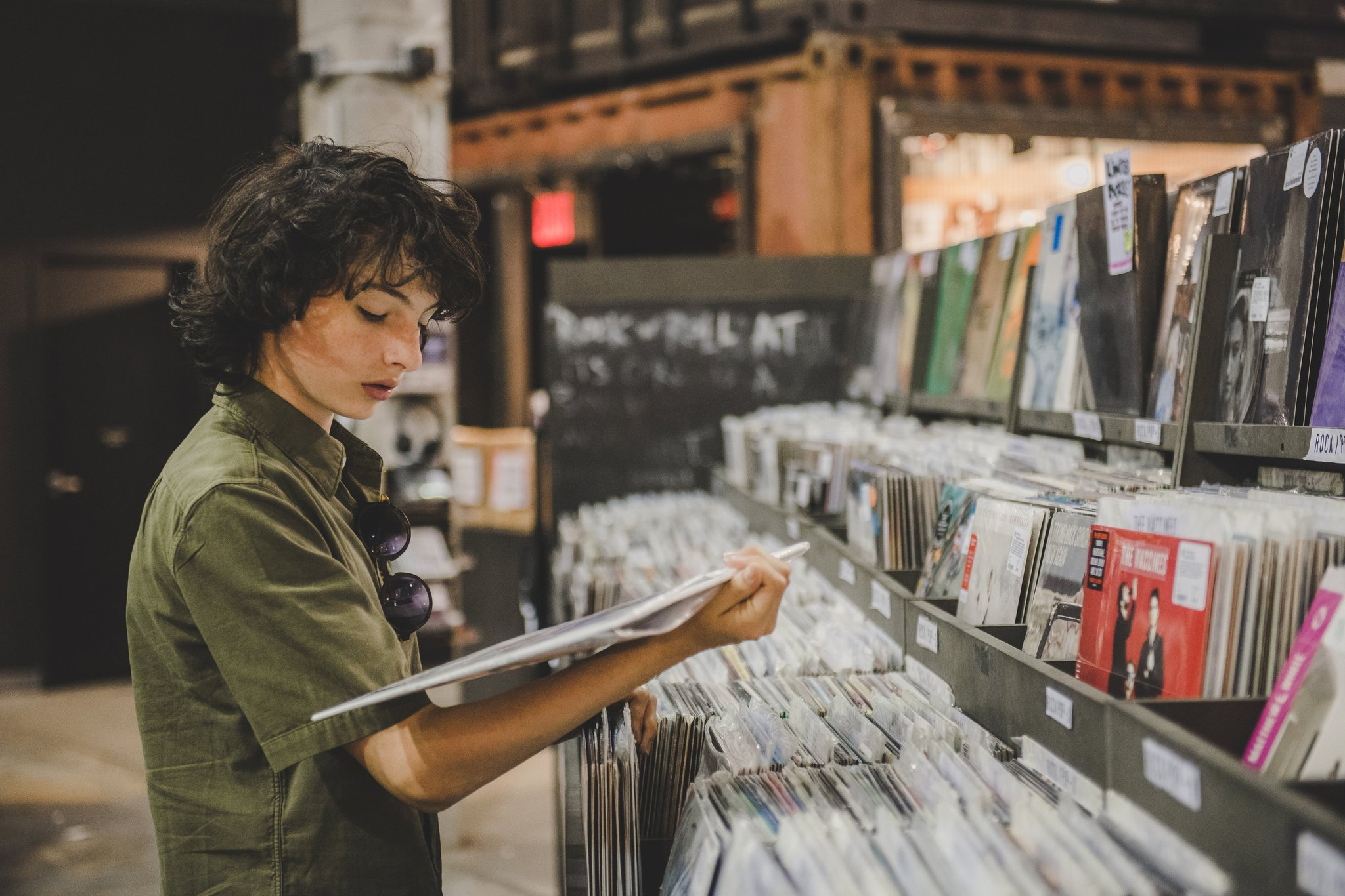 George Etheredge/New York Times   F  inn Wolfhard, vinyl lover   Shopping for vinyl records with Stranger Thing star Finn Wolfhard for  The New York Times