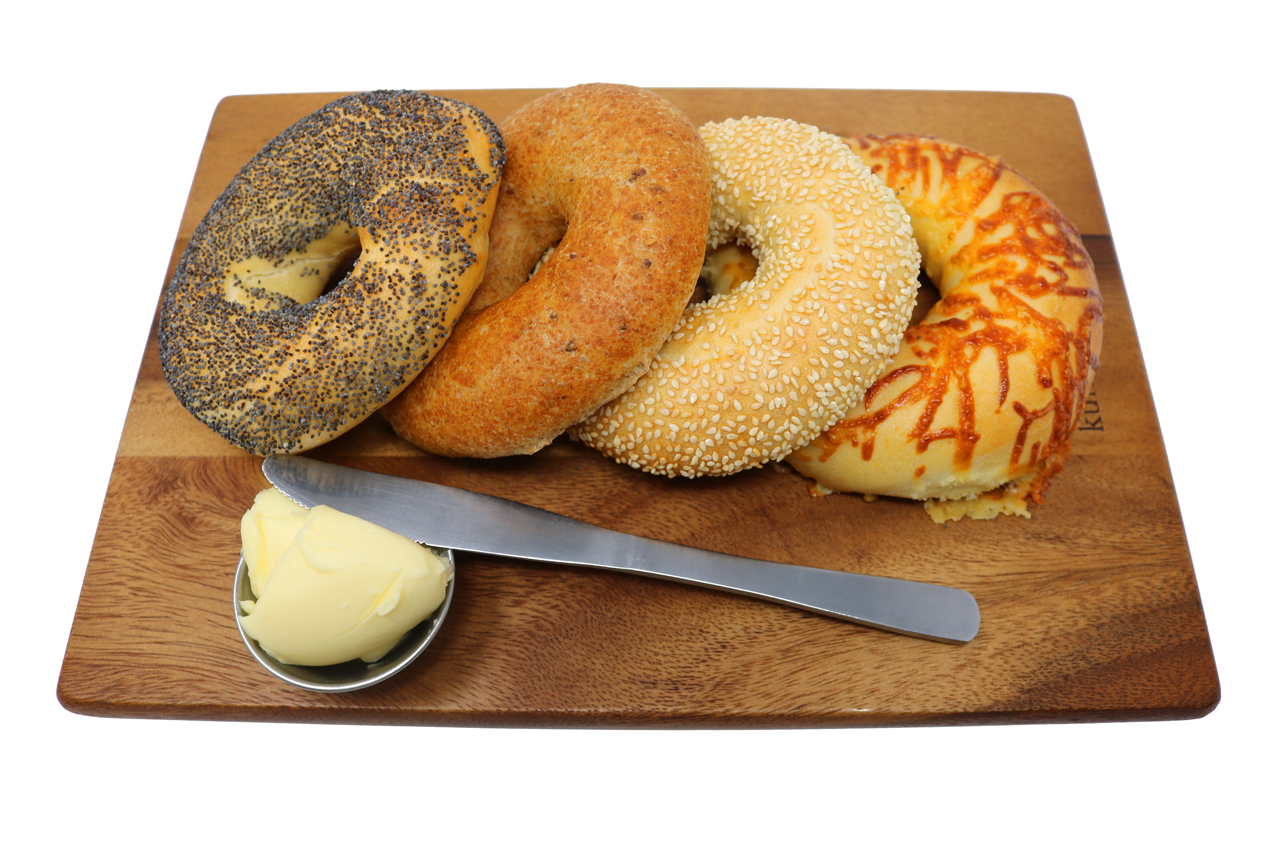 New York Style Bagels - Wheat or Spelt with Sesame or Poppy SeedCheese