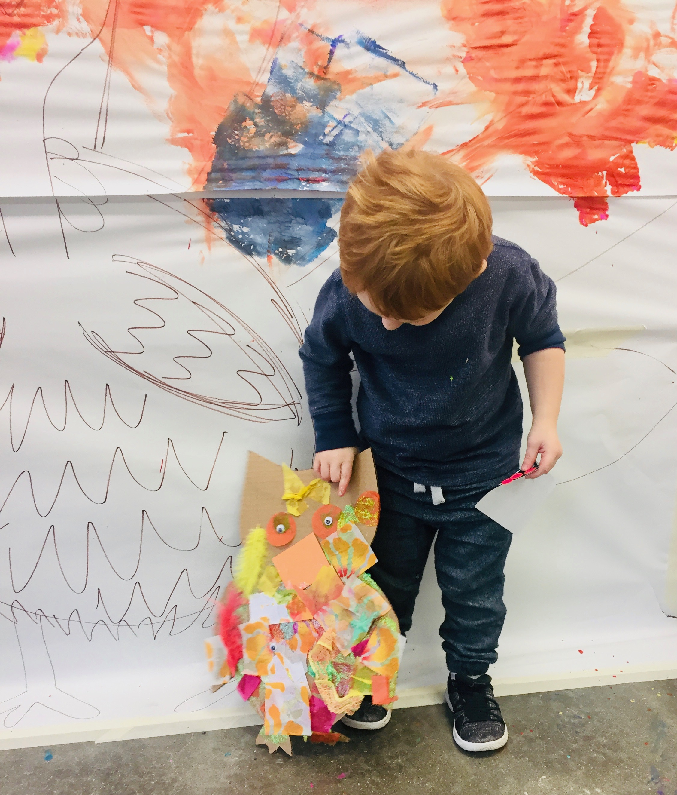 Proud artist with his owl!