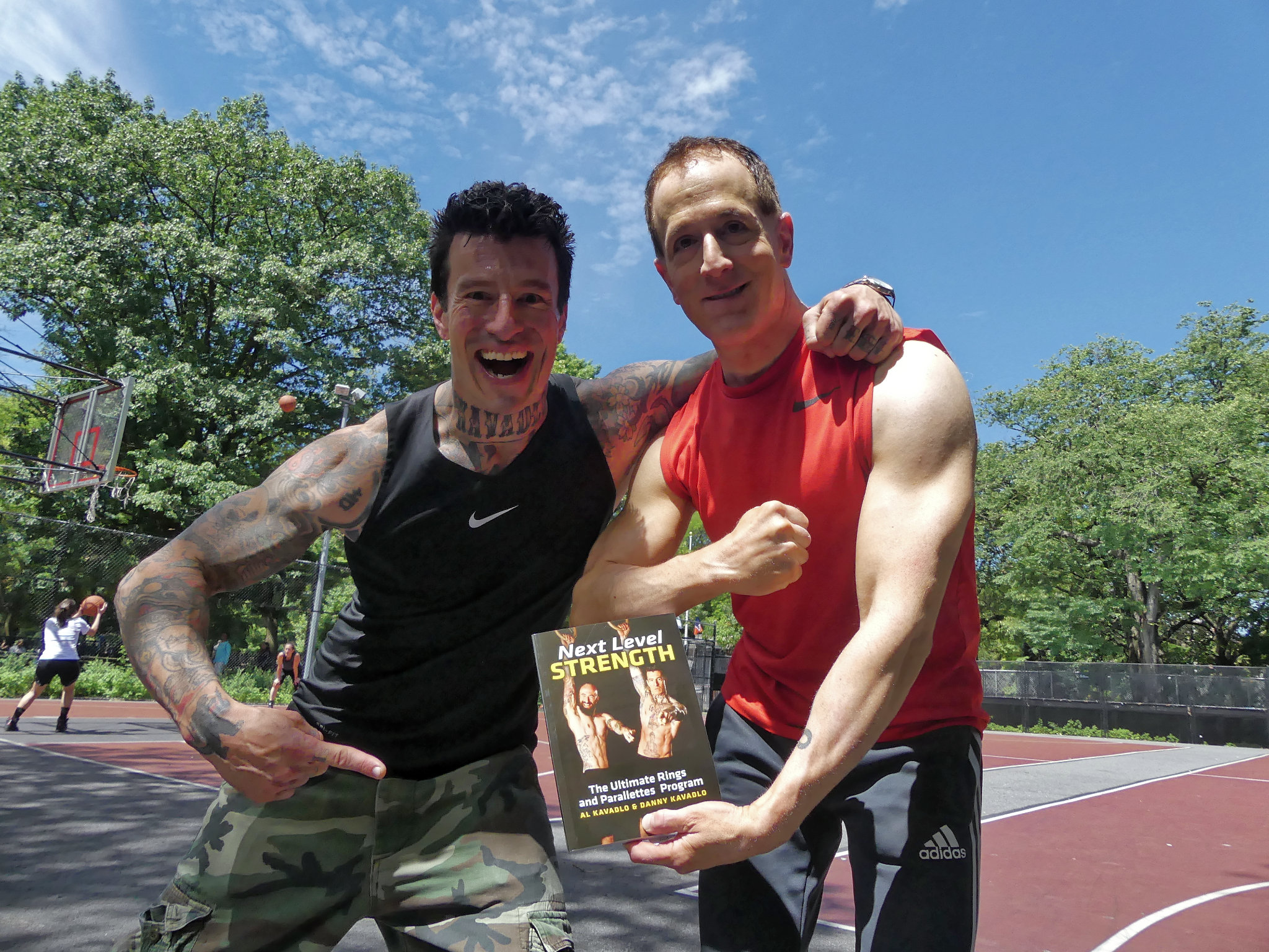 Danny Kavadlo with bootcamp participant and the newly release book Next Level Strength