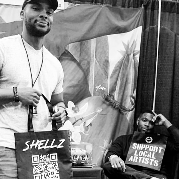 SUPPORT LOCAL ARTISTS @_contrasst_ @sxsw #supportlocalartists 📸: @djshellz . . . . . #texas #austin #sxsw #local #art #artists #branding #marketing #movement #love #support #totebag #selfmade #slide #selfmadedesigns #artlife #artists