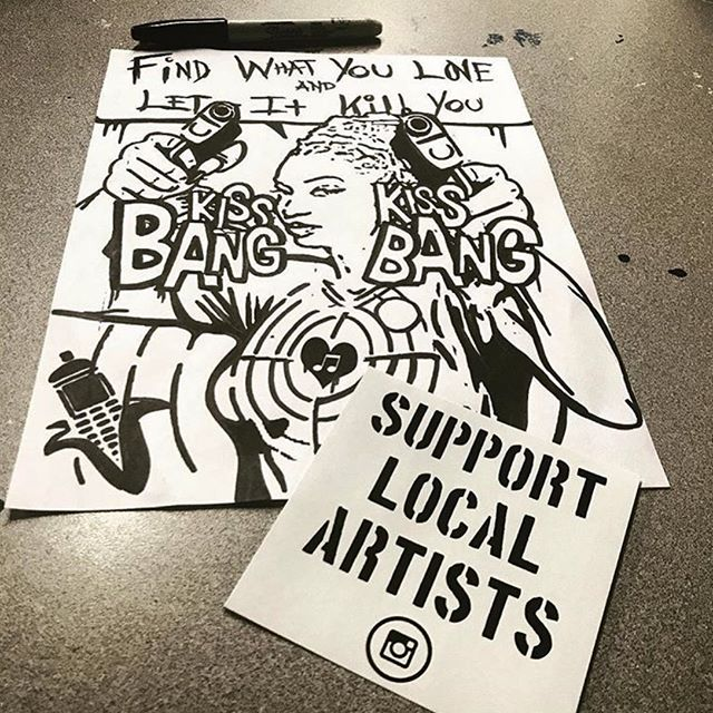 SUPPORT LOCAL ARTIST⚫️⚪️@thecanofcorn . . . .  #art #artstudio #screenprinting #quincy #SUPPORTLOCALARTISTS  #SELFMADEDESIGNS  #CREATELOCALARTISTS  #gymforartists  #artist #art #drawing #artwork #music #artistsoninstagram #illustration #love #sketch #instaart #photography #hiphop #draw #contemporaryart #digitalart #design #instagood #singer #blackandwhite