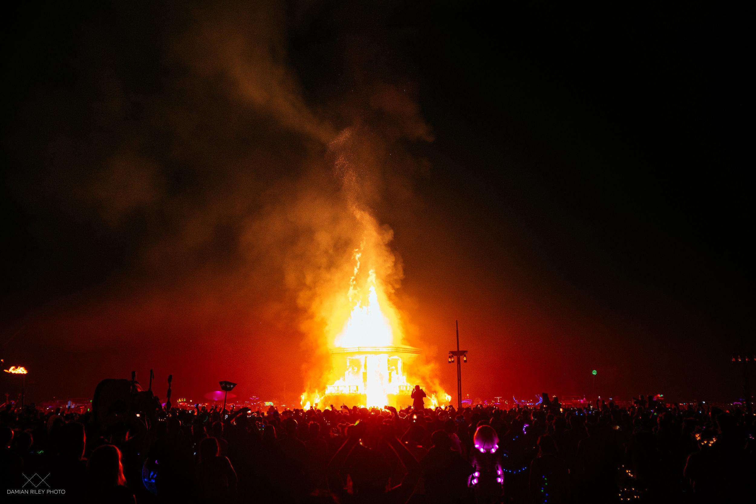 fire at burning man