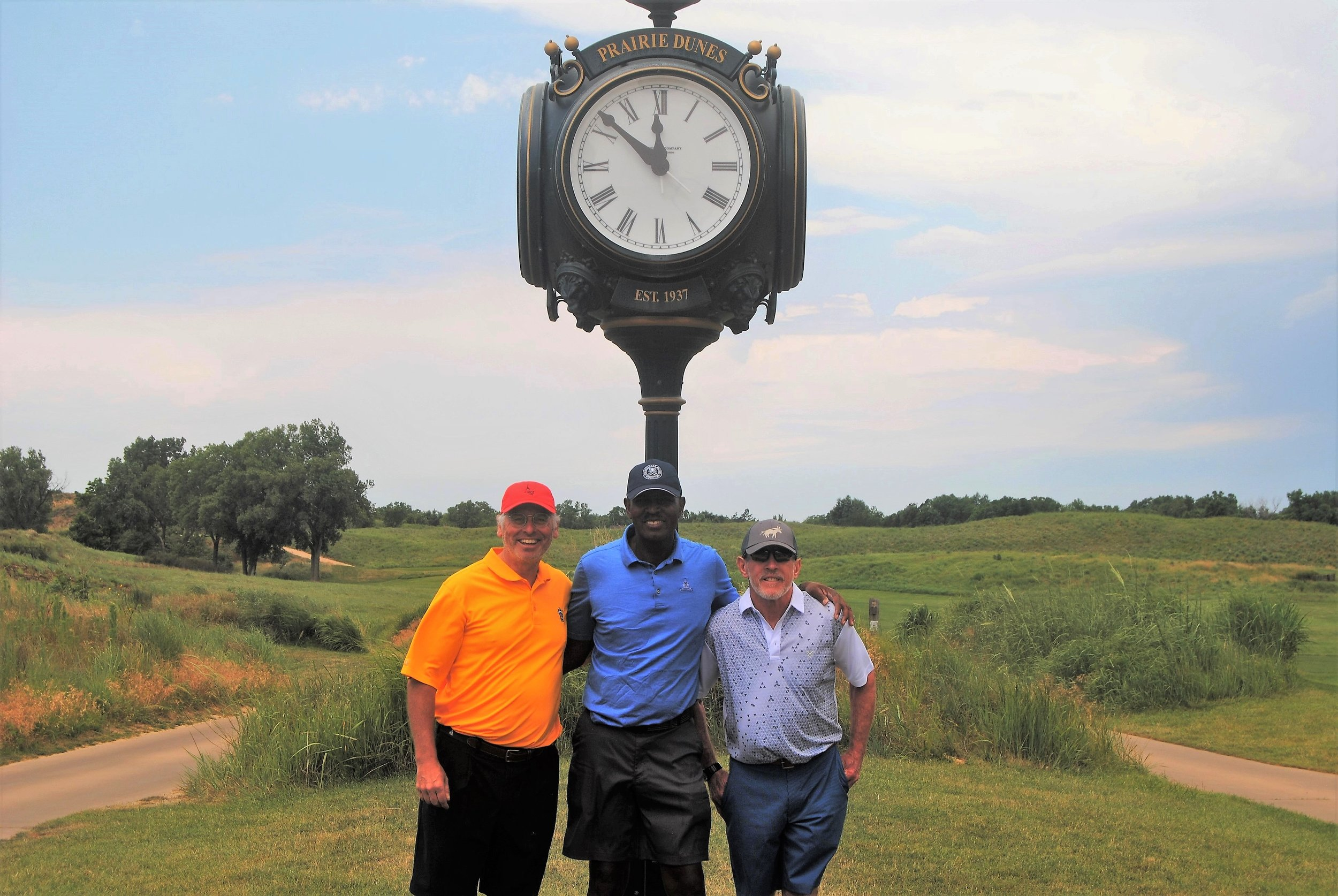 Dave, Me, and David following our round at Prairie Dunes