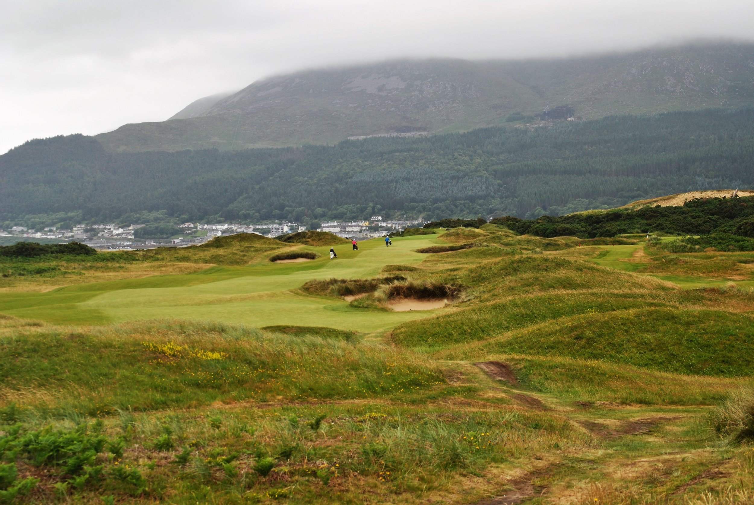 A view of the 8th hole. It is listed as the toughest hole on the course.