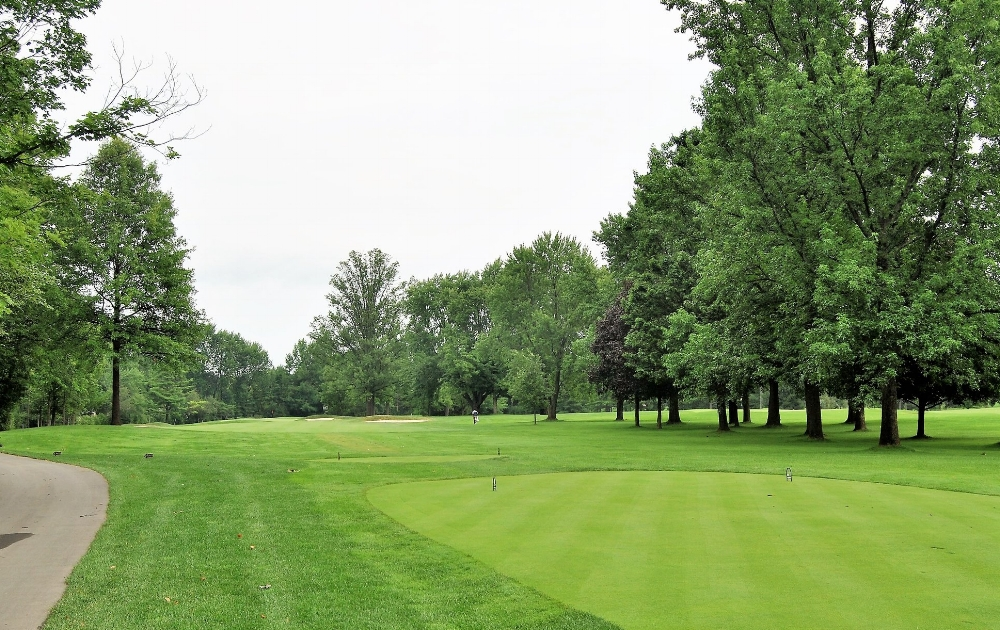 The first hole at Crooked Stick.  As you can see, the trees on the left come into play very quickly