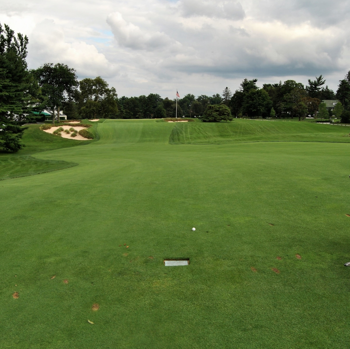 In the footprints of legends. My drive on the 18th hole.