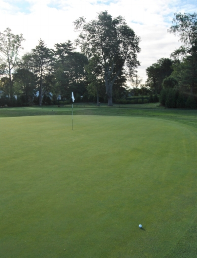 I missed my birdie putt after hitting the green in regulation