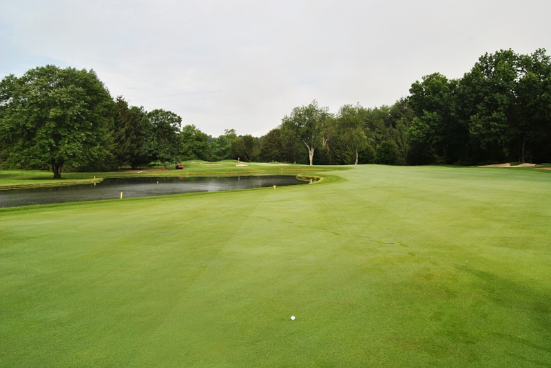 The 15th hole from the fairway.
