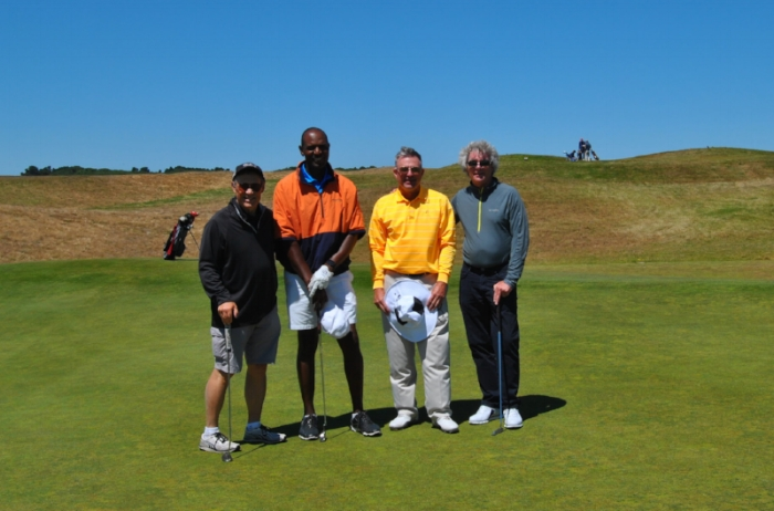 Me with Ronnie, Jay and Chad following our round.