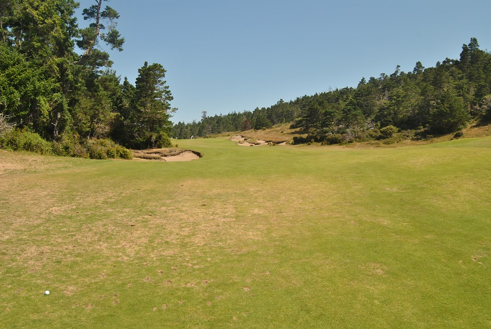 The approach from the sixteenth fairway to the green.