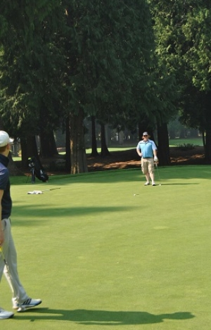Bart came up just short on his long birdie but on the 3rd hole on the North nine.