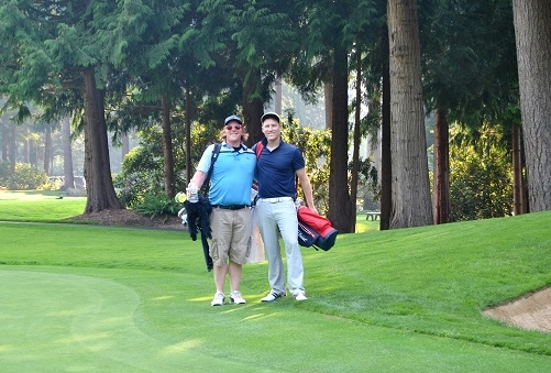 Jason and Bart following our round at Sahalee.