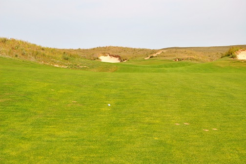 My drive in the 9th fairway.