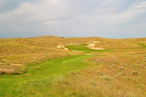 The long par three fifteenth hole.