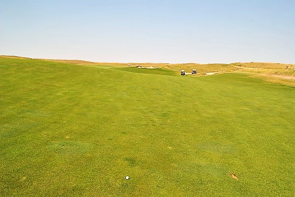 My drive on the twelfth hole left 160 yards for my approach shot.