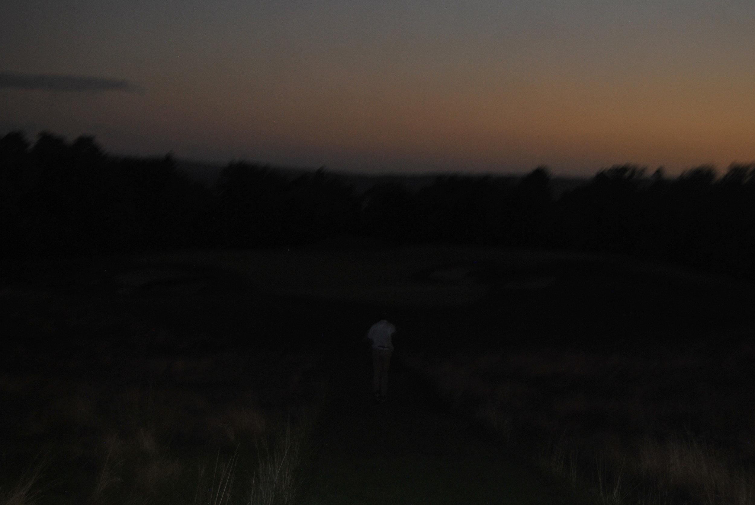 This is what it looked like as we played the 17th and 18th holes.