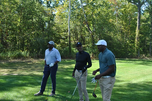 Kevin, Me, and Michael on the 17th tee box