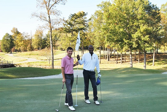 With Marshall on the 18th green following our round at The Honors Course.