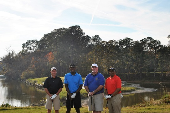 Kevin, me, Richard, Kevan on the 15th tee box.