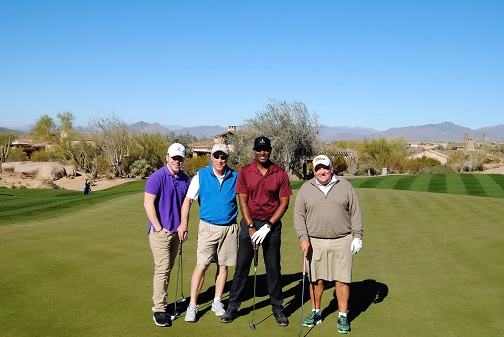 Matt, Mike, me, and Steve following our round.