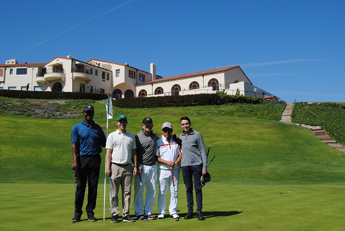 With David, Michael, Milton,and Campbell following our round.