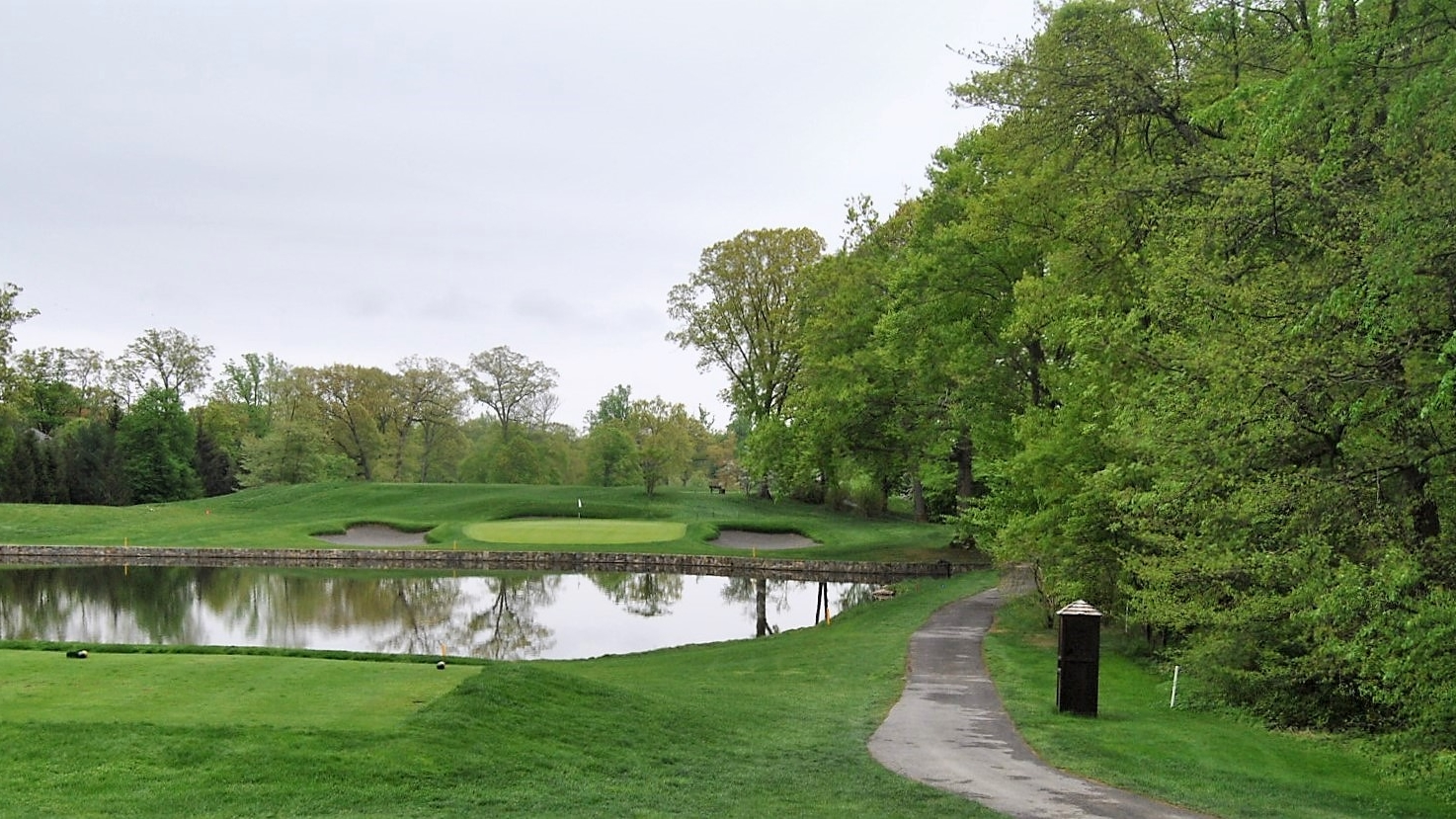 The Par 3 Fifth Hole at Quaker Ridge Golf Club